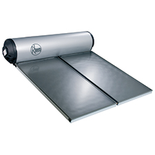 types of solar hot water systems roof top