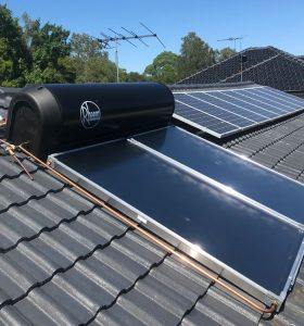 rheem solar hot water system installation north shore