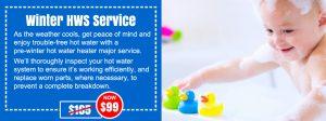 winter hot water service