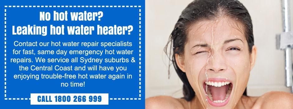 emergency hot water heater repairs north shore